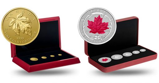 2015 Maple Leaf Gold and Silver Fractional Sets