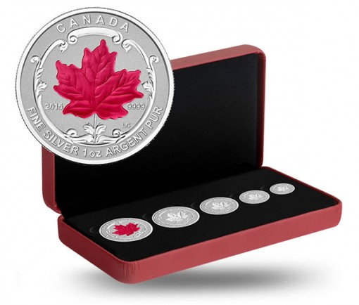 2015 Maple Leaf Silver Incuse Fractional Set