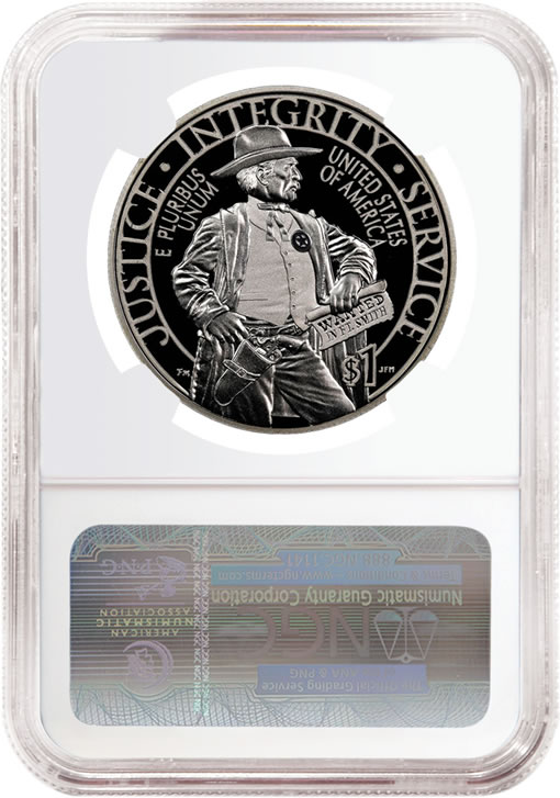 2015-P $1 Proof US Marshals Service Silver Commemorative Coin - Reverse