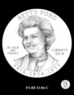 2016 First Spouse Gold Coin Design Candidate FS-BF-O-06-C