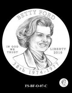 2016 First Spouse Gold Coin Design Candidate FS-BF-O-07-C