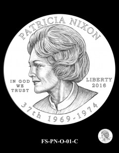 2016 First Spouse Gold Coin Design Candidate FS-PN-O-01-C