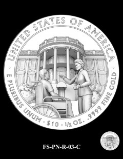 2016 First Spouse Gold Coin Design Candidate FS-PN-R-03-C