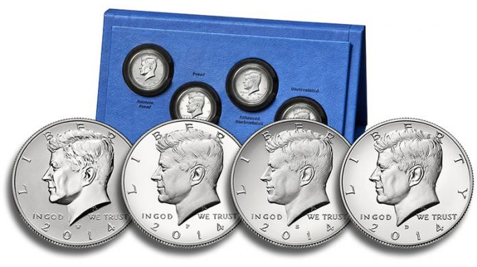 50th Anniversary Kennedy 2014 Half-Dollar Silver Coin Collection and Coins