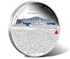 ANZAC Spirit Coin Depicts First Convoy