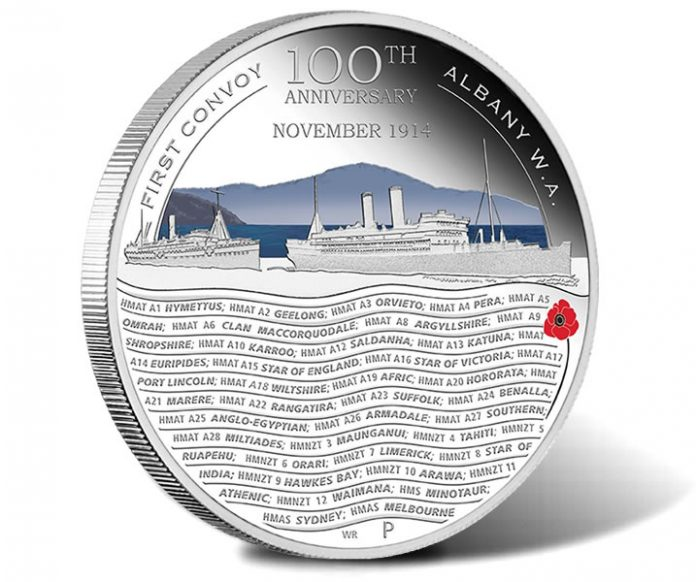 ANZAC Spirit 100th Anniversary First Convoy 2014 Silver Proof Coin
