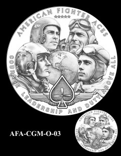 American Fighter Aces Congressional Gold Medal Design Candidate AFA-CGM-O-03