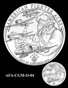 American Fighter Aces Congressional Gold Medal Design Candidate AFA-CGM-O-04