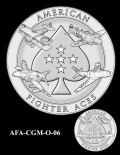 American Fighter Aces Congressional Gold Medal Design Candidate AFA-CGM-O-06