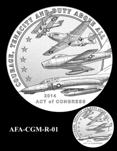 American Fighter Aces Congressional Gold Medal Design Candidate AFA-CGM-R-01