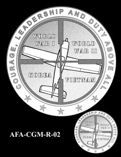 American Fighter Aces Congressional Gold Medal Design Candidate AFA-CGM-R-02