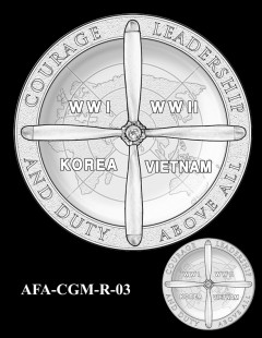 American Fighter Aces Congressional Gold Medal Design Candidate AFA-CGM-R-03