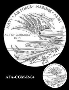 American Fighter Aces Congressional Gold Medal Design Candidate AFA-CGM-R-04