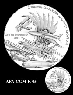 American Fighter Aces Congressional Gold Medal Design Candidate AFA-CGM-R-05