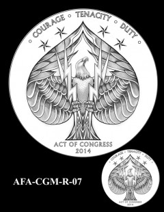 American Fighter Aces Congressional Gold Medal Design Candidate AFA-CGM-R-07