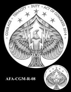 American Fighter Aces Congressional Gold Medal Design Candidate AFA-CGM-R-08