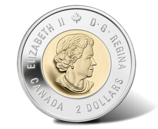 Canadian 2014 $2 Wait For Me, Daddy Circulation Coin - Obverse