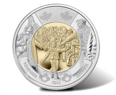 Canadian 2014 $2 'Wait For Me, Daddy' Circulation Coin Released