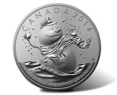 Canadian 2014 $20 Snowman Silver Coin for $20