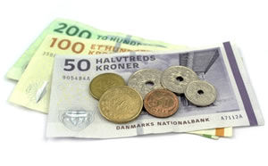 Denmark banknotes and coins