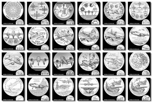 Design Candidates for Doolittle Tokyo Raiders Congressional Gold Medal