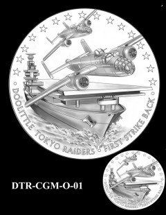 Doolittle Tokyo Raiders Congressional Gold Medal Design Candidate DTR-CGM-O-01