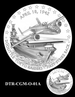 Doolittle Tokyo Raiders Congressional Gold Medal Design Candidate DTR-CGM-O-01A