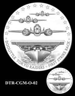 Doolittle Tokyo Raiders Congressional Gold Medal Design Candidate DTR-CGM-O-02