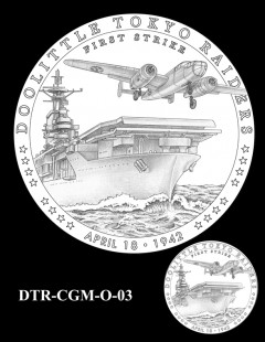 Doolittle Tokyo Raiders Congressional Gold Medal Design Candidate DTR-CGM-O-03