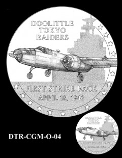 Doolittle Tokyo Raiders Congressional Gold Medal Design Candidate DTR-CGM-O-04