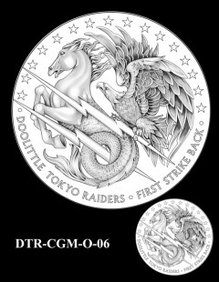 Doolittle Tokyo Raiders Congressional Gold Medal Design Candidate DTR-CGM-O-06