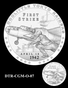 Doolittle Tokyo Raiders Congressional Gold Medal Design Candidate DTR-CGM-O-07
