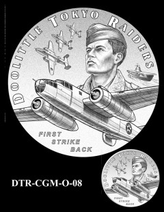 Doolittle Tokyo Raiders Congressional Gold Medal Design Candidate DTR-CGM-O-08