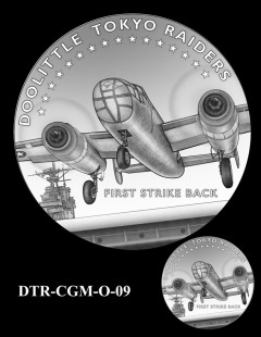 Doolittle Tokyo Raiders Congressional Gold Medal Design Candidate DTR-CGM-O-09