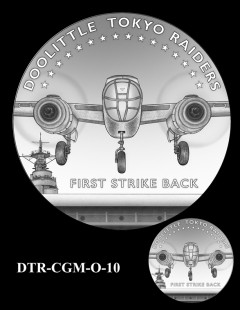 Doolittle Tokyo Raiders Congressional Gold Medal Design Candidate DTR-CGM-O-10