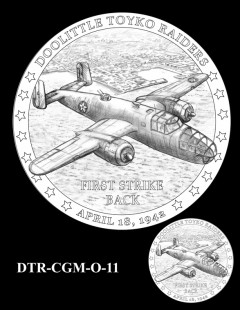 Doolittle Tokyo Raiders Congressional Gold Medal Design Candidate DTR-CGM-O-11