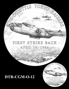 Doolittle Tokyo Raiders Congressional Gold Medal Design Candidate DTR-CGM-O-12