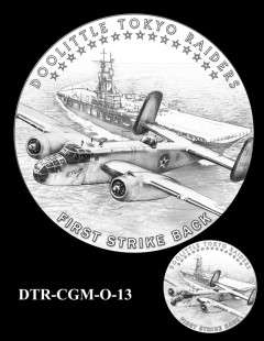 Doolittle Tokyo Raiders Congressional Gold Medal Design Candidate DTR-CGM-O-13