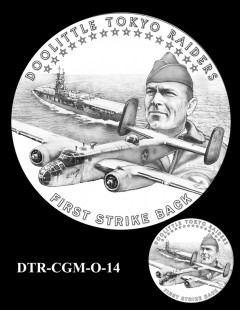 Doolittle Tokyo Raiders Congressional Gold Medal Design Candidate DTR-CGM-O-14