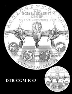 Doolittle Tokyo Raiders Congressional Gold Medal Design Candidate DTR-CGM-R-03