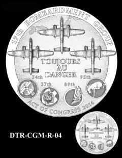 Doolittle Tokyo Raiders Congressional Gold Medal Design Candidate DTR-CGM-R-04