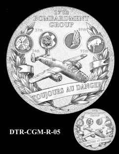 Doolittle Tokyo Raiders Congressional Gold Medal Design Candidate DTR-CGM-R-05