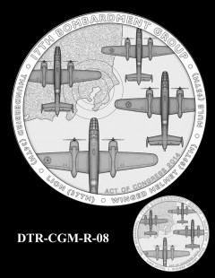 Doolittle Tokyo Raiders Congressional Gold Medal Design Candidate DTR-CGM-R-08