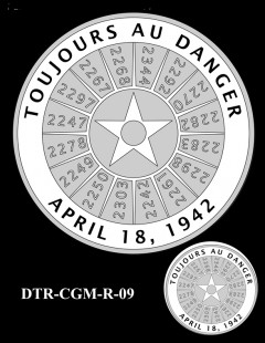 Doolittle Tokyo Raiders Congressional Gold Medal Design Candidate DTR-CGM-R-09