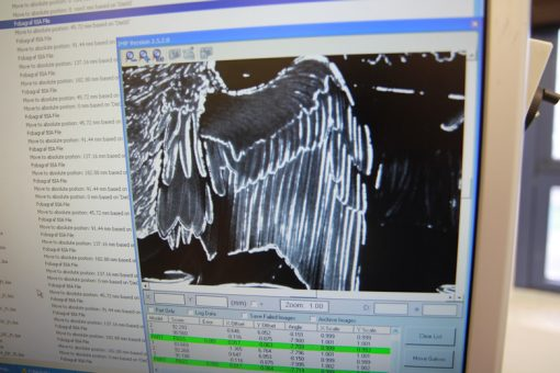 Screen shot of FOBA G-10 Laser showing enhanced frost programming detail