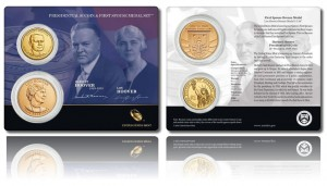 Hoover Presidential $1 Coin and First Spouse Medal Set