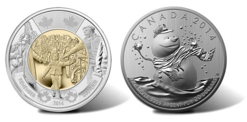 New Canadian Coins, Wait for Me Daddy and Snowman