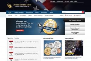New US Mint Website