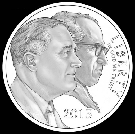 Obverse Design for 2015 March of Dimes Silver Dollar Commemorative Coin