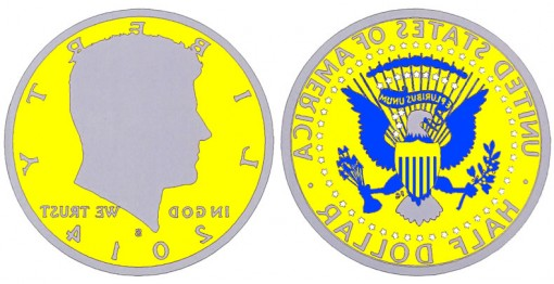 Treatment for the 2014-S Enhanced Uncirculated 50th Anniversary Kennedy Half-Dollar